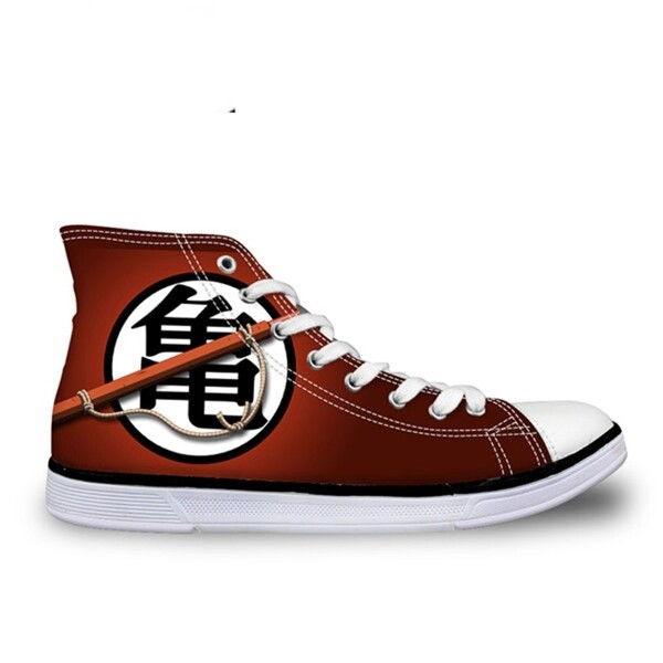 Red Dragon Ball Symbol Converse Shoes