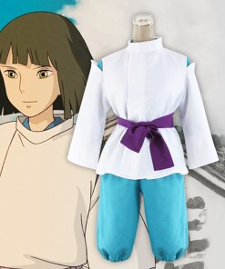 Classic Spirited Away White Dragon Haku Cosplay