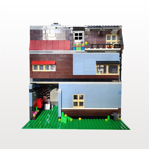 Modular Buildings ZHEGAO QL0925 Pet Shop Alternative Build Compatible with MOC-18923 by InyongBricks