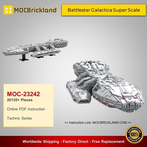 Technic MOC-23242 Battlestar Galactica Super Scale By OnTheEdge MOCBRICKLAND