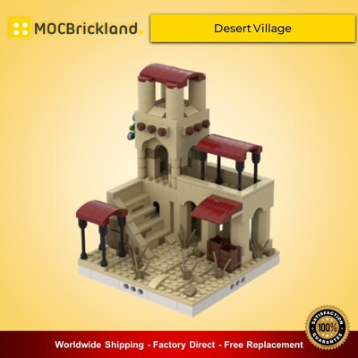 Modular Buildings Desert Village | Build From 12 Different Mocs By gabizon MOCBRICKLAND
