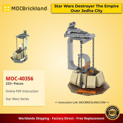 Star Wars MOC-40356 Tensegrity Sculpture Star Wars Destroyer The Empire Over Jedha City by gabizon MOCBRICKLAND