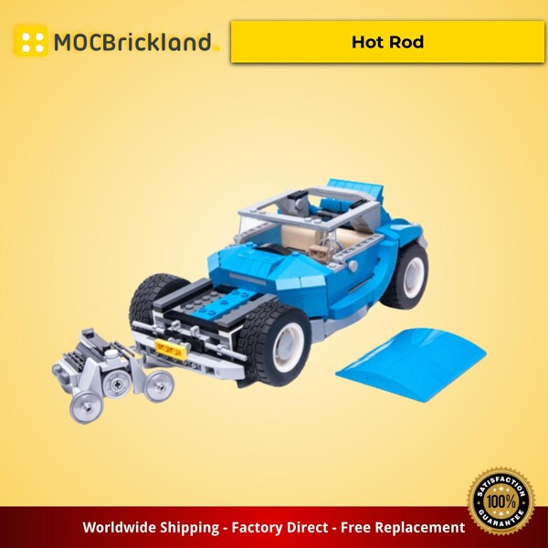 Creator MOC-22200 10252 Hot Rod by Keep On Bricking MOCBRICKLAND