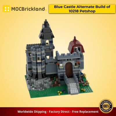 Modular Buildings MOC-37994 Blue Castle Alternate Build of 10218 Petshop by Soymlik_DiceBrick MOCBRICKLAND