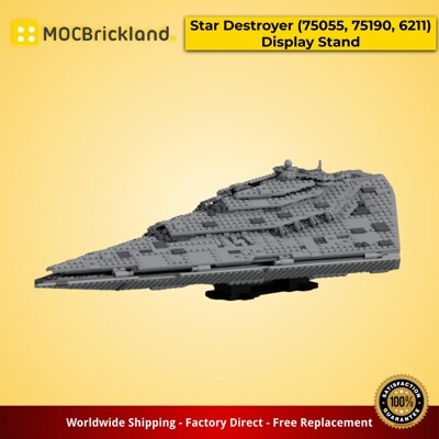 Star Wars MOC-20831 Star Destroyer (75055, 75190, 6211) Display Stand by G3isel MOCBRICKLAND