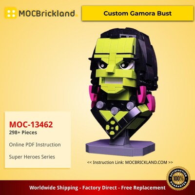 Super Heroes MOC-13462 Custom Gamora Bust by buildbetterbricks MOCBRICKLAND