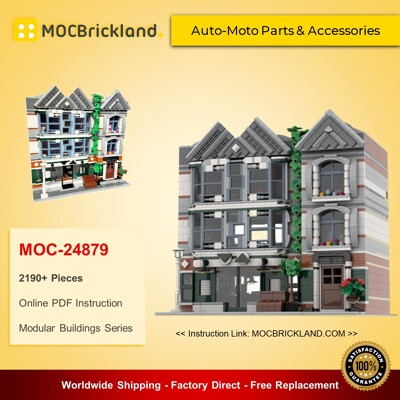 Modular Buildings MOC-24879 Auto-Moto Parts & Accessories (10264 Corner Garage Alternate Model Modular) By Huaojozu MOCBRICKLAND