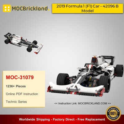 Technic MOC-31079 2019 Formula 1 (F1) Car - 42096 B Model By GeyserBricks MOCBRICKLAND