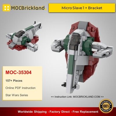Star Wars MOC-35304 Micro Slave 1 + Bracket By ron_mcphatty MOCBRICKLAND