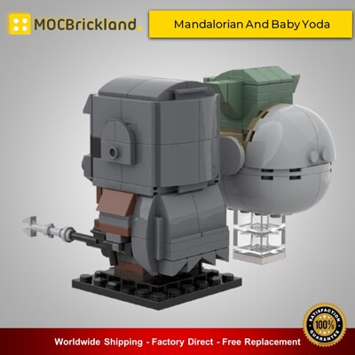 Star Wars MOC-35477 Mandalorian And Baby Yoda By custominstructions MOCBRICKLAND