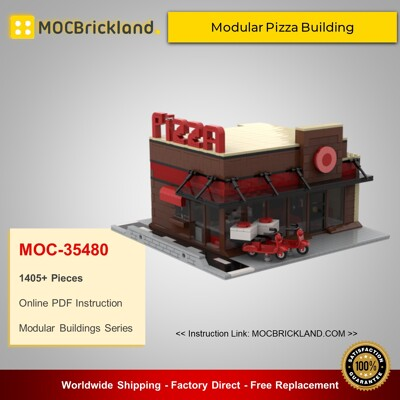 Modular Buildings MOC-35480 Modular Pizza Building By gabizon MOCBRICKLAND