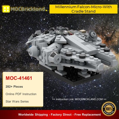 Star Wars MOC-41461 Millennium Falcon-Micro-With Cradle Stand By 6211 MOCBRICKLAND