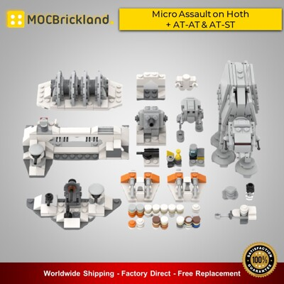 Star Wars MOC-44946 Micro Assault on Hoth + AT-AT & AT-ST By ron_mcphatty MOCBRICKLAND