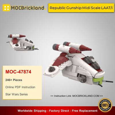 Star Wars MOC-47874 Republic Gunship Midi Scale LAAT/i By 6211 MOCBRICKLAND