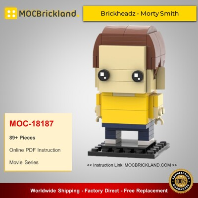 Movie MOC-18187 Brickheadz - Morty Smith By brick_monster MOCBRICKLAND