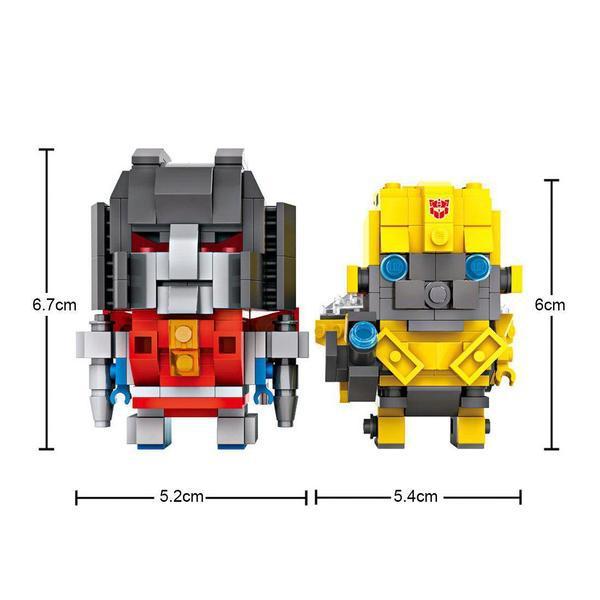 LOZ Brickheadz Starcream and Bumblebee
