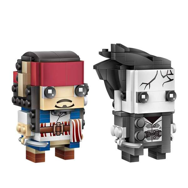 LOZ Brickheadz Captain Jack and Salazar