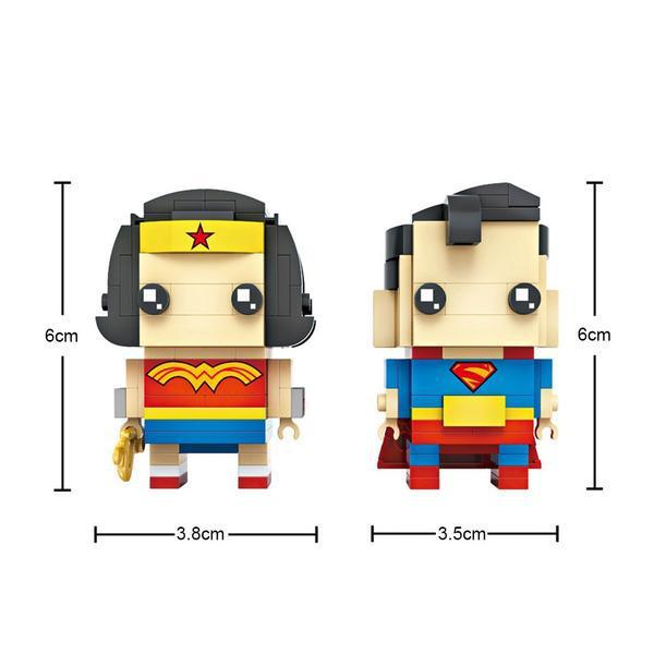 LOZ Brickheadz Superman & Wonder woman