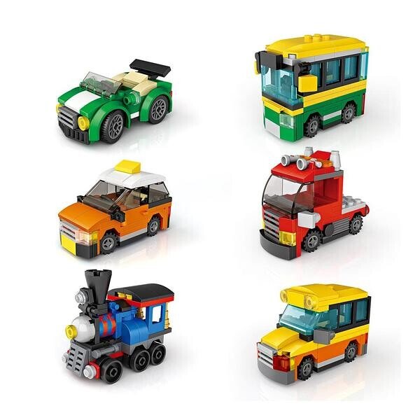 LOZ Cube Dudes Vehicles x6