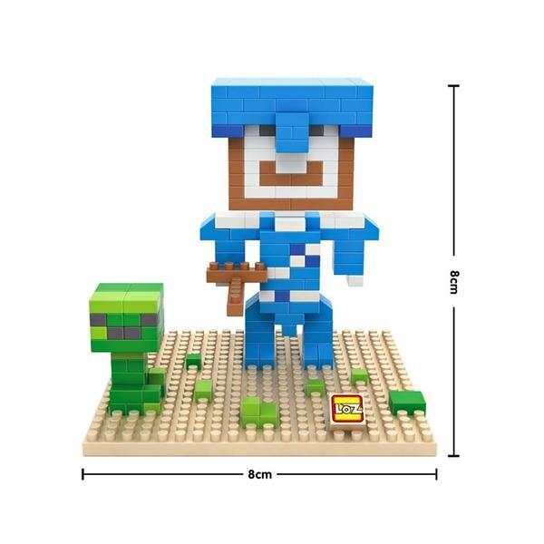 LOZ Minecraft Blue Head