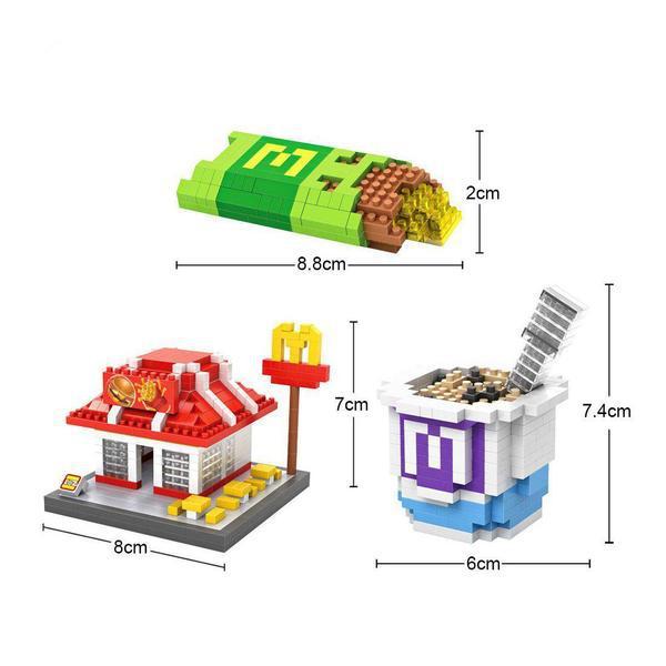 LOZ Fast Food Meal Set
