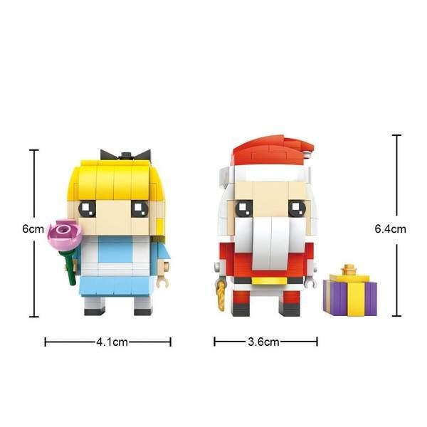 LOZ Brickheadz Santa and Alice
