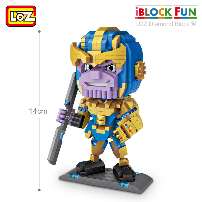 LOZ Diamond Blocks Thanos and Iron Man