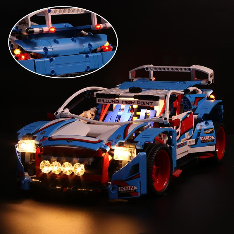 Luxury VersionLED Light Set For LEGO 42077 Rally Car Compatible LEPIN 20077Kits