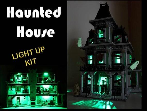 Basic Version LED Light Kit For LEGO 10228 City Monster Fighter Haunted House and 16007 (Only Light Set)Kits