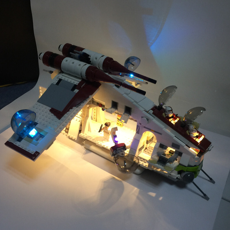 Basic Version LED Light Kit For LEGO 75021 and 05041 The Republic Gunship (Only Light Set)Kits