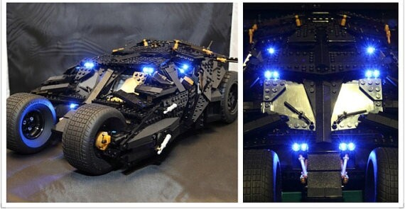 Basic Version LED Light Kit For LEGO 76023 and 7111 Batman The Tumbler Blocks (Only Light Set)Kits