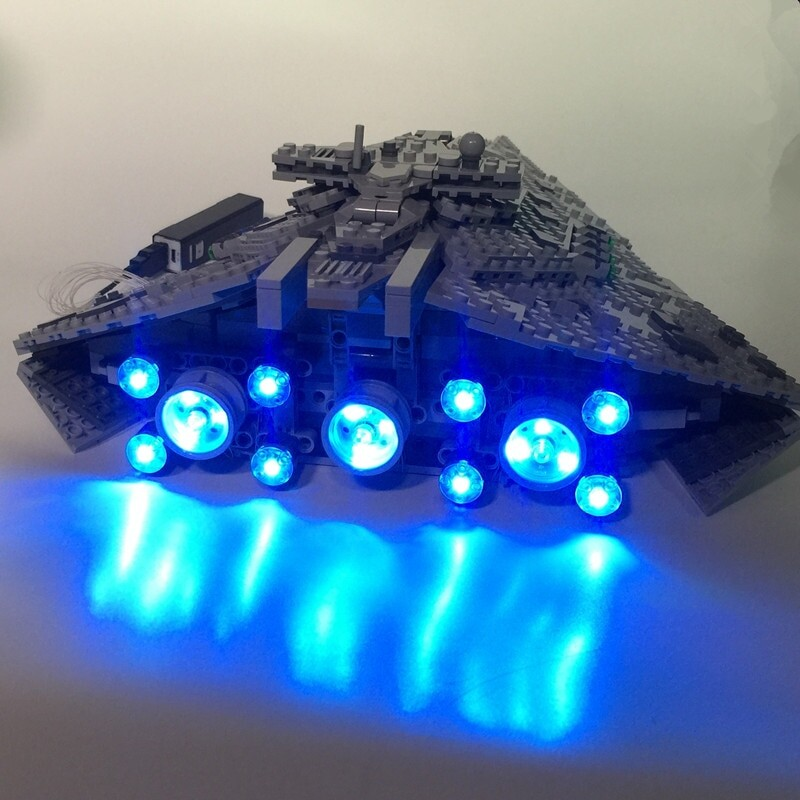 Basic Version LED Light Kit For LEGO 75190 Star Wars The First order Star Destroye Compatible With LEPIN 05131 (Only Light Set)Kits