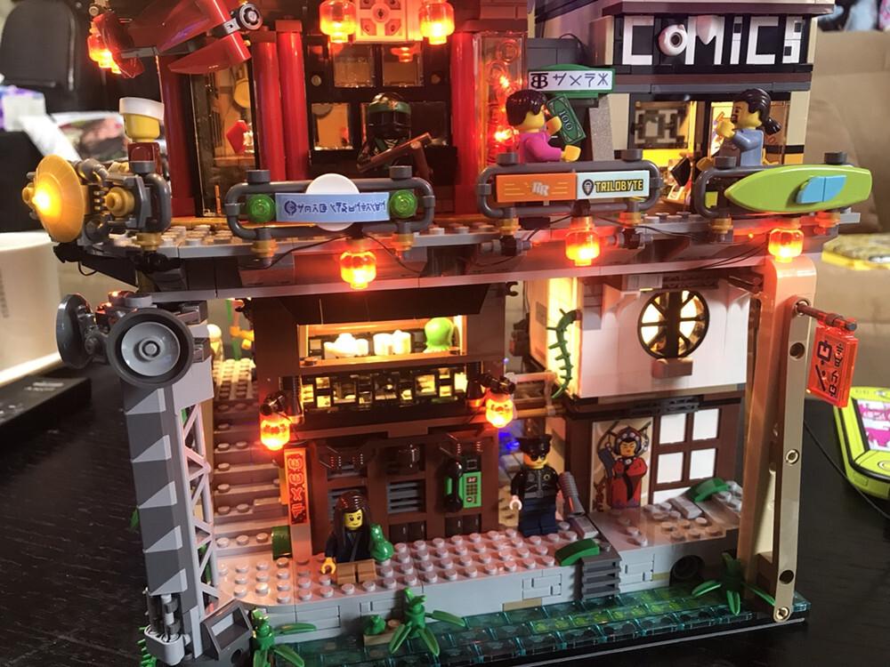 Basic Version LED Light Kit For LEGO 70620 Ninjago City Masters of Spinjitzu Building (Only Light Set)Kits