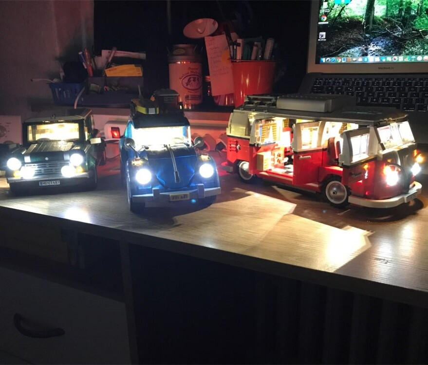 Basic Version LED Light Kit For LEGO creator technic car 10220/10242/42056/10252/10194/76023 (Only Light Set)Kits