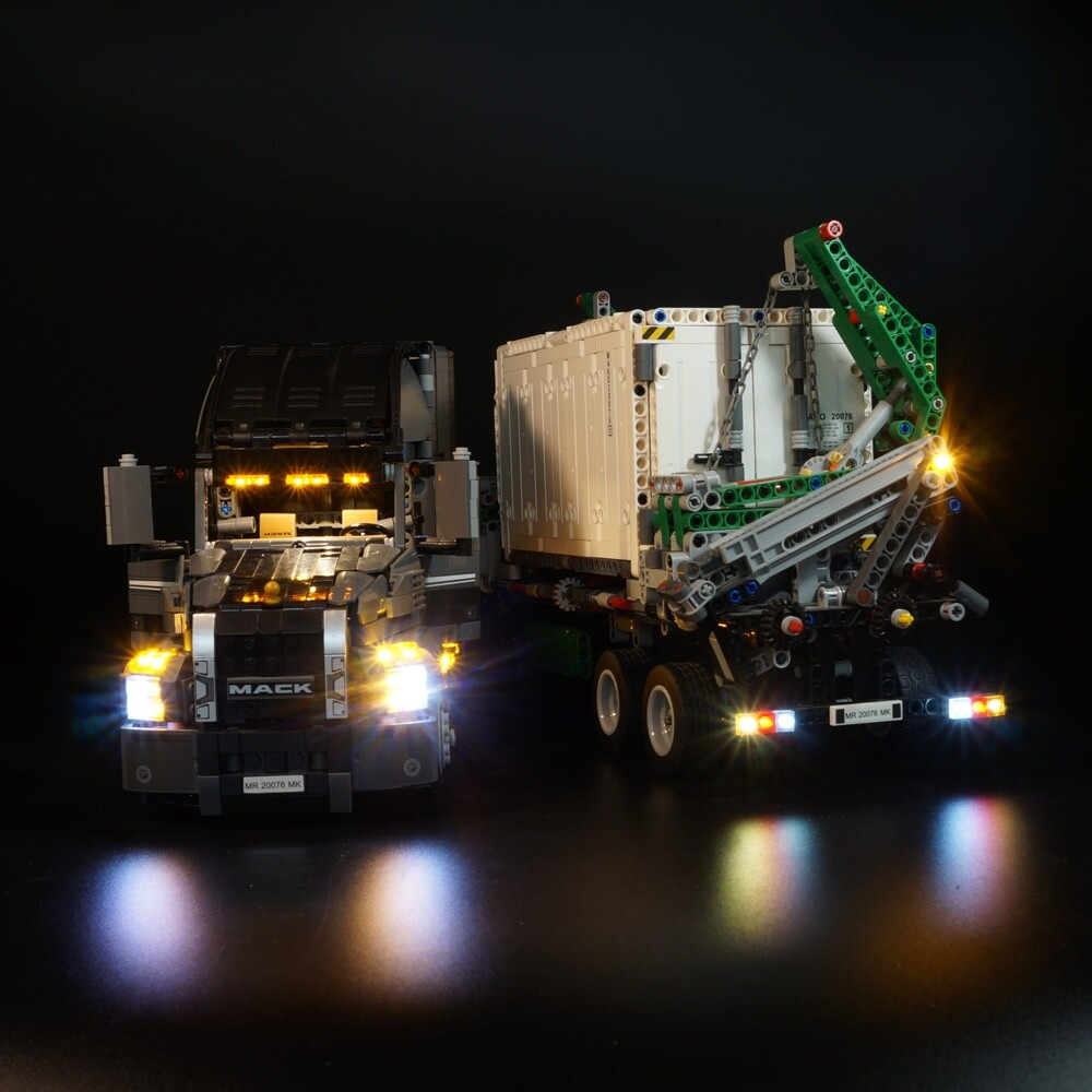 Basic Version LED Light Kit For LEGO Technic Series 42078 and 20076 the Mack Anth Big Truck Set (Only Light Set)Kits