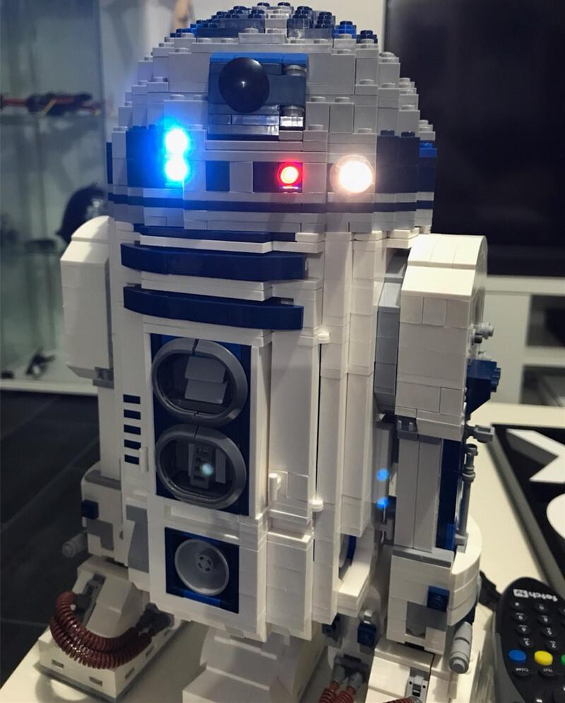 Basic Version LED Light Kit For LEGO 10225 and 05043 star wars R2-D2 Model Building blocks (Only Light Set)Kits