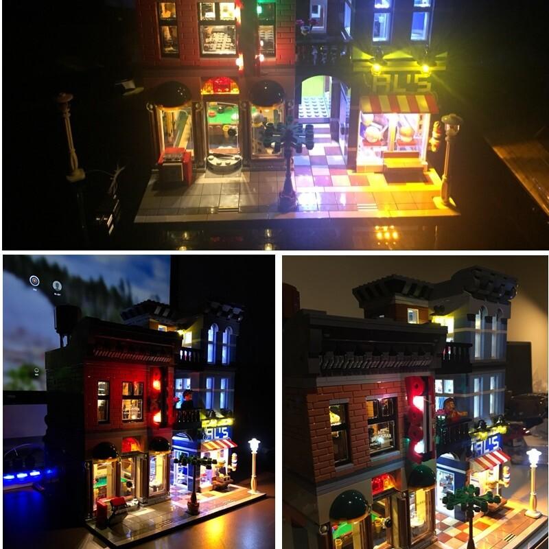 Basic Version LED Light Kit For LEGO 10246 Compatible With LEPIN 15011 Detective's Office Building Blocks Model (Only Light Set)Kits