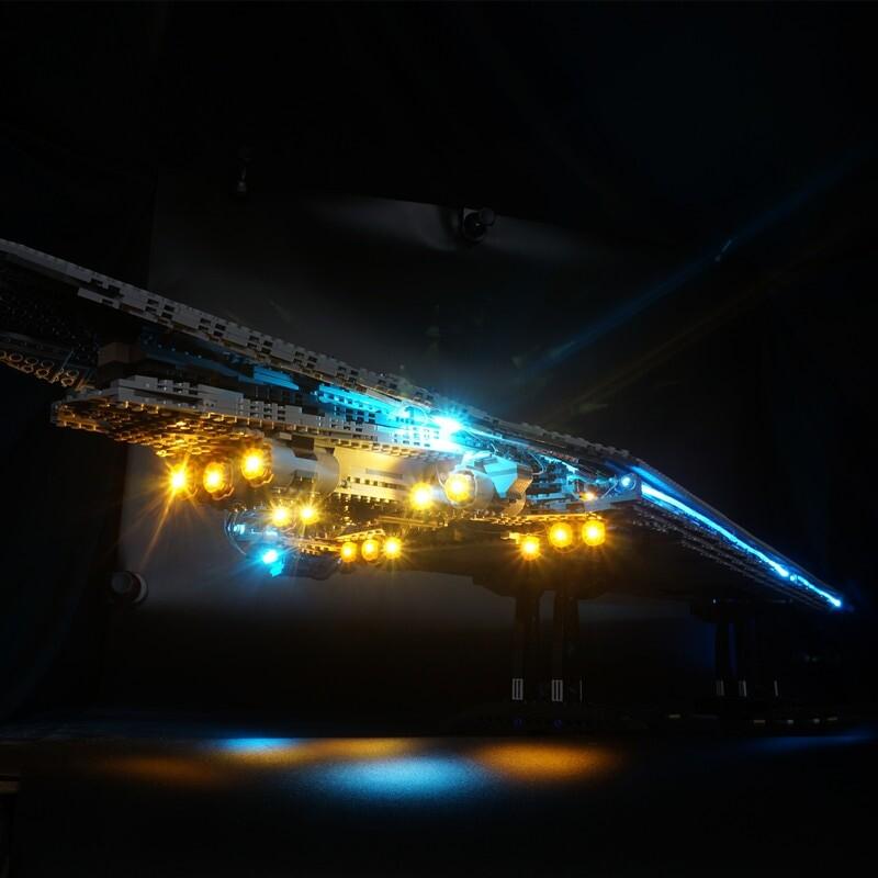 Basic Version LED Light Kit For LEGO 10221 Star Wars Super Star Destroyer Compatible With LEPIN 05028 (Only Light Set)Kits