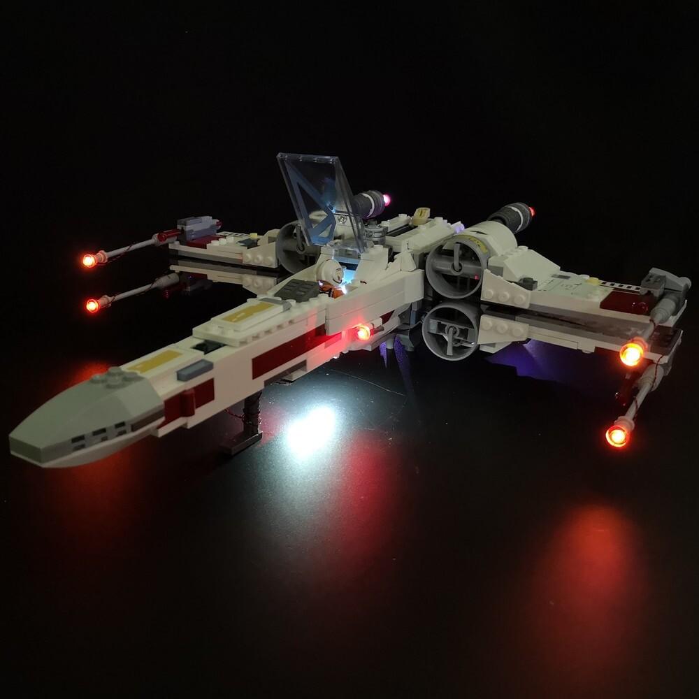 Basic Version LED Light Kit For LEGO 75218 Star Wars the X Wing Starfighter (Only Light Set)Kits