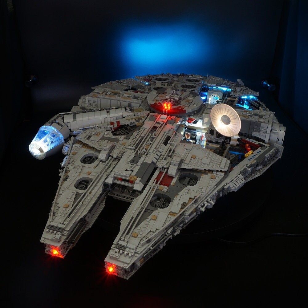 Basic Version LED Light Kit For LEGO 75192 and 05132 Star War Falcon Millennium (Only Light Set)Kits