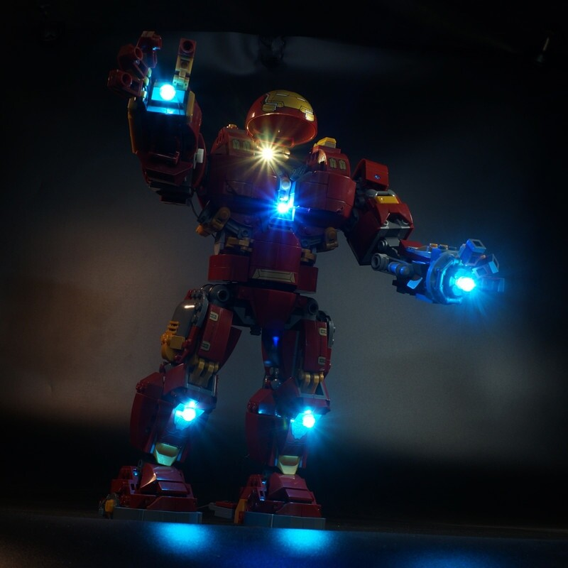 Basic Version LED Light Kit For LEGO 76105 and 07101 the Iron Man Hulkbuster Set (Only Light Set)Kits
