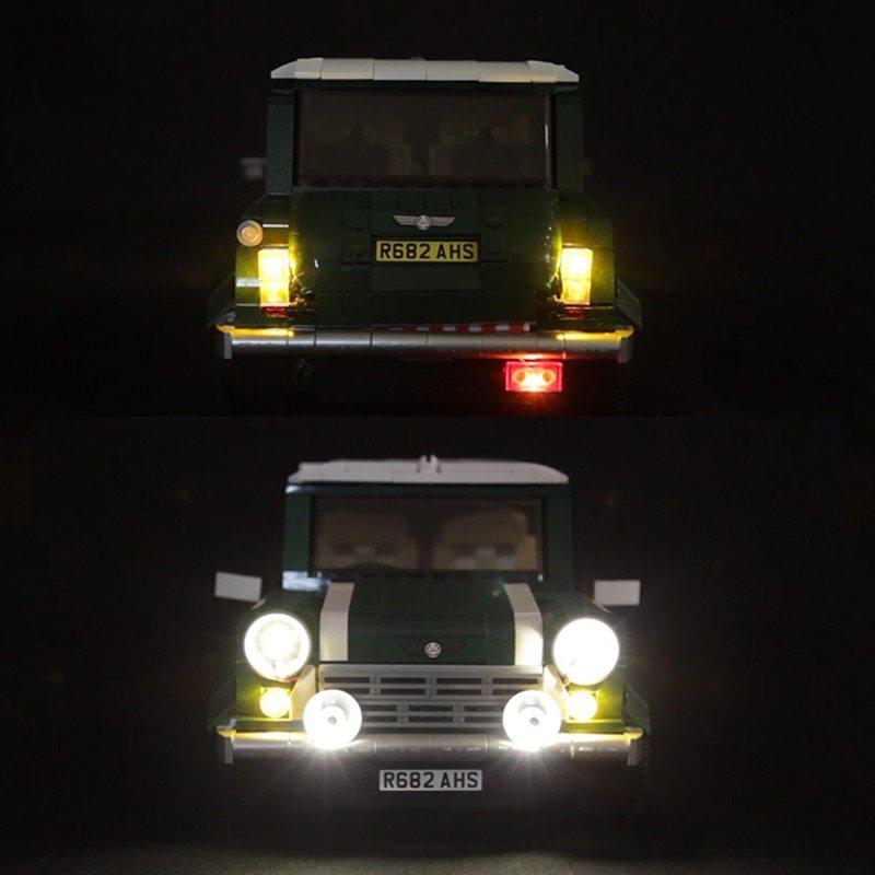 Luxury VersionLED Light Set For LEGO 10242 MINI Cooper MK VII Compatible LEPIN 21002Kits