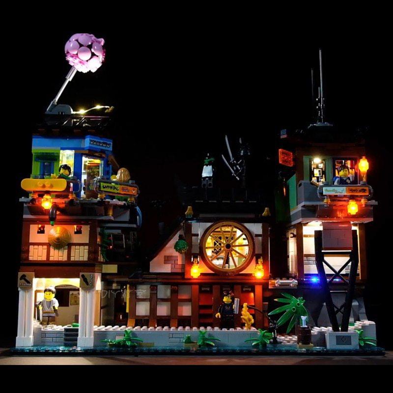 Luxury VersionLED Light Set For LEGO 70657 Dojo Showdown Compatible LEPIN 06083 (LED light+Battery box)Kits