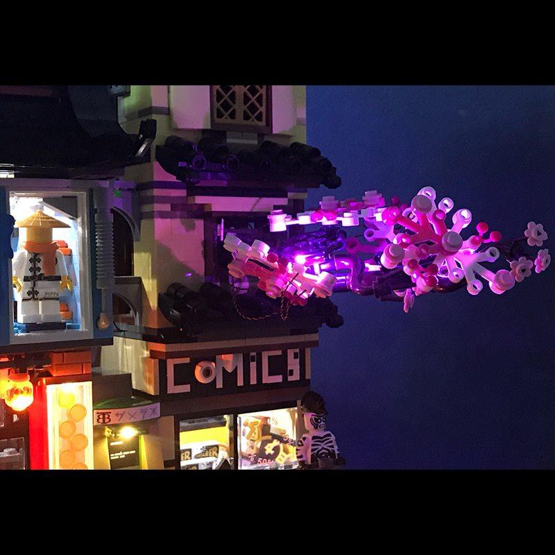 Luxury VersionLED Light Set For LEGO 70620 NINJAGO City Compatible LEPIN 06066(LED Light+Battery box)Kits