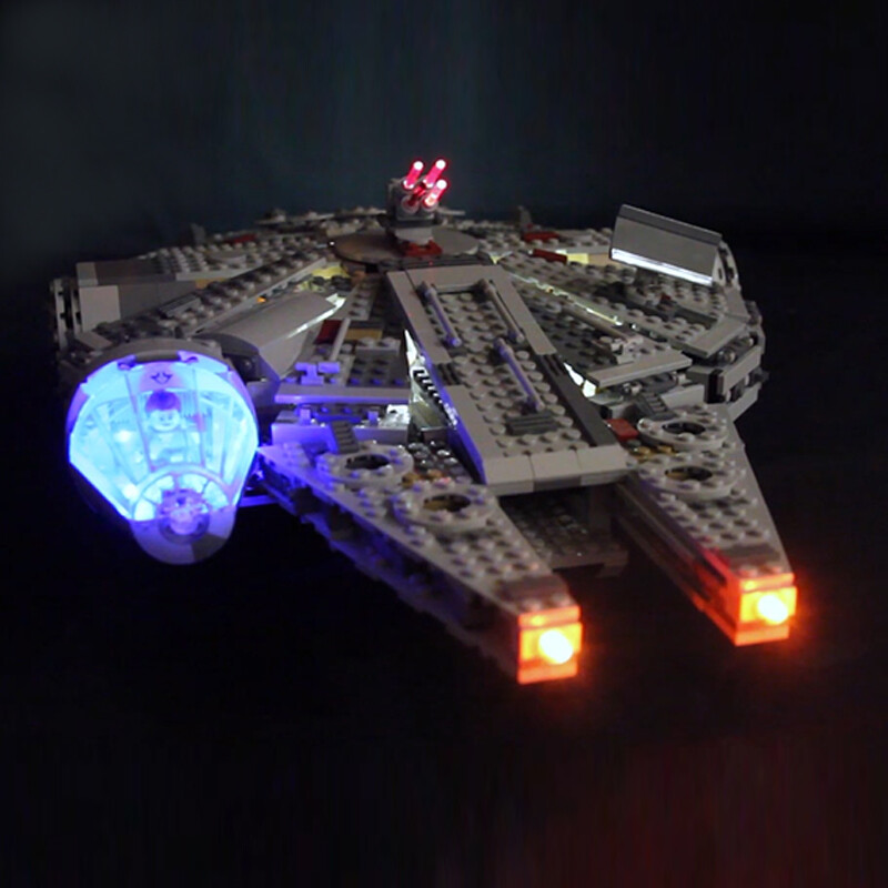 Luxury VersionLED Light Set For LEGO 75105 Millennium Falcon Compatible LEPIN 05007 (LED Light+Battery box)Kits