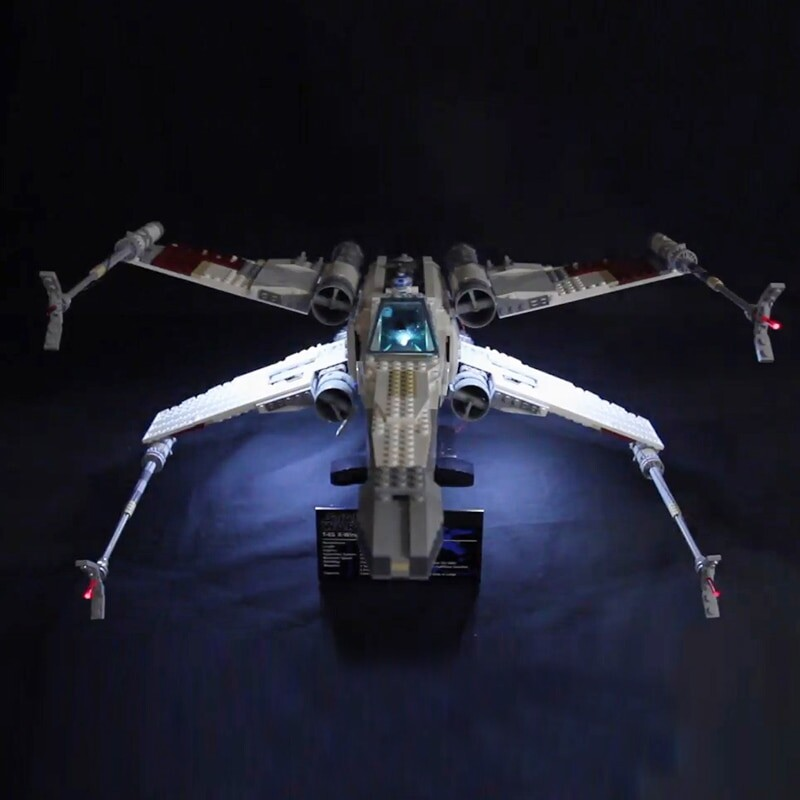 Luxury VersionLED Light Set For LEGO 10240 Red Five X-wing Starfighter Compatible LEPIN 05039 (LED Light+Battery box)Kits