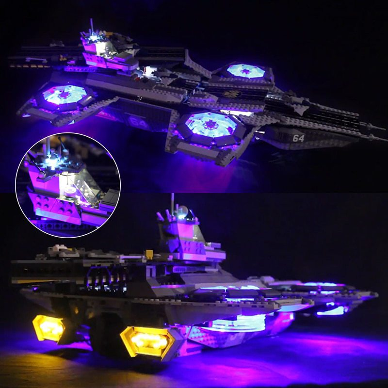 Luxury VersionLED Light Set For LEGO 76042 The SHIELD Helicarrier Compatible LEPIN 07043 (LED Light)Kits