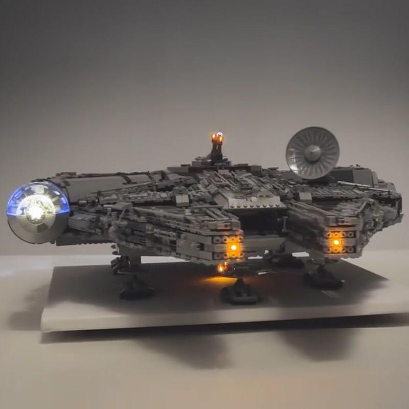 Luxury VersionLED Light Set For LEGO 75192 Millennium Falcon Compatible 05132 (not include blocks set)Kits