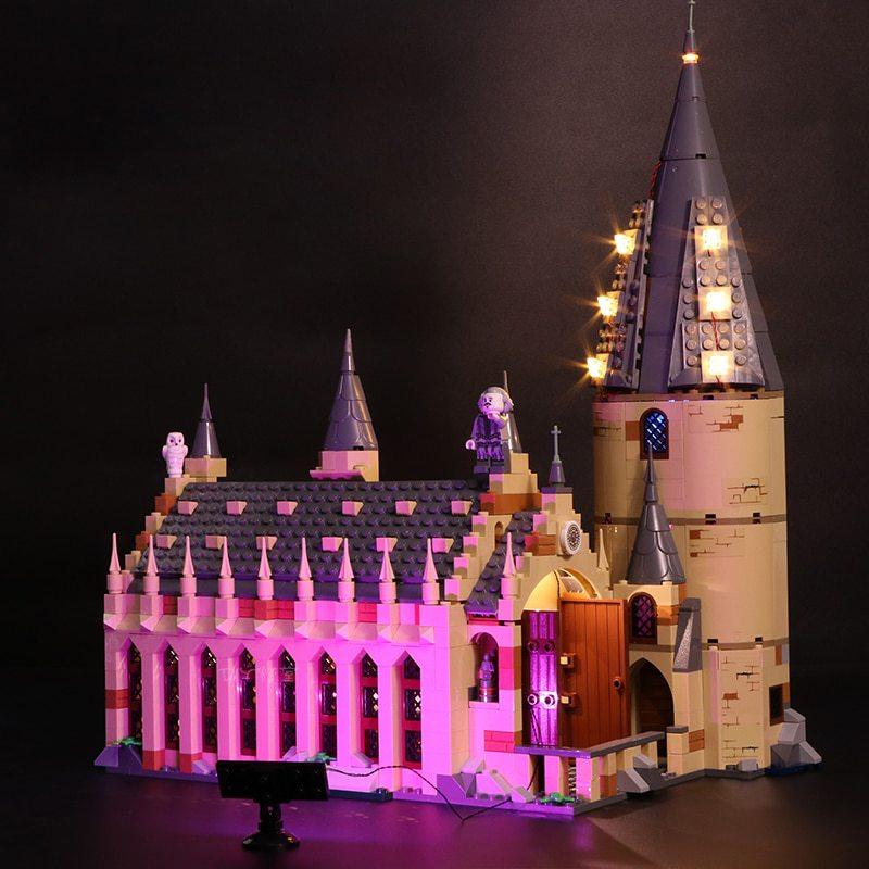 Luxury VersionLED Light Set For LEGO 75954 Hogwarts Great Hall Compatible LEPIN 16052 (LED Light)Kits