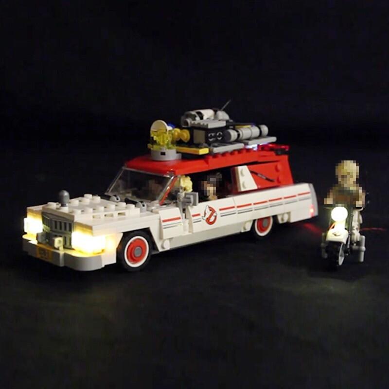 Luxury VersionLED Light Set For LEGO 75828 Ecto-1 & 2 Compatible LEPIN 16032 ( LED Light+Battery box)Kits